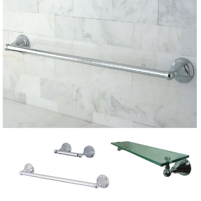Chrome 3 piece glass shelf and towel bar bathroom for Bathroom accessories sets on sale
