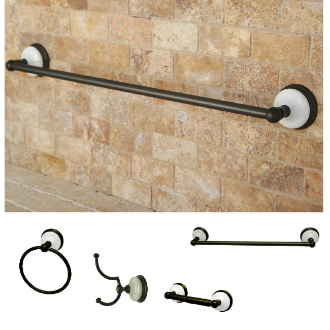 oil rubbed bronze 4 piece bathroom accessory set free shipping today