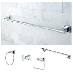 Chrome 4-piece Bathroom Accessory Set