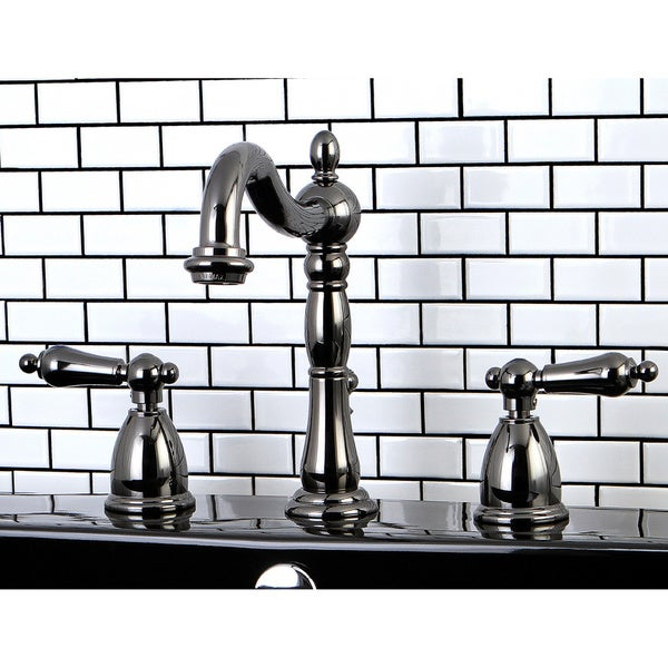 Black Stainless Steel Widespread Bathroom Faucet