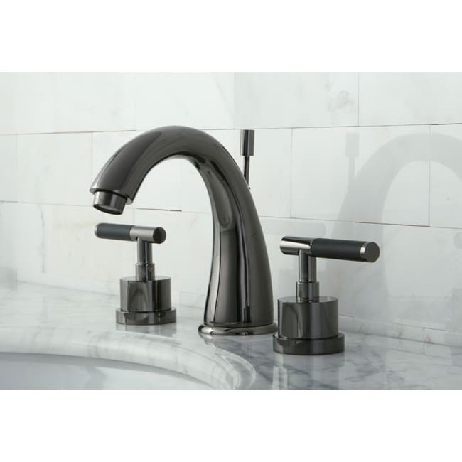 Black Faucets For Bathroom : Black Nickel Widespread Bathroom Faucet with Horizontal Handles - Free ...