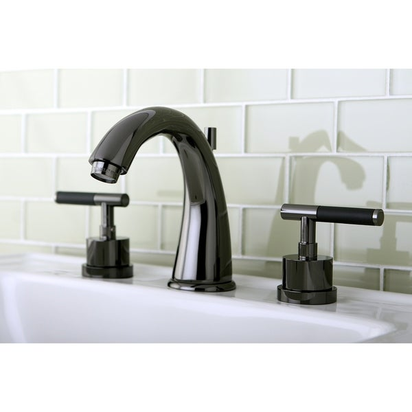 Shop Black Stainless Steel Widespread Bathroom Faucet With Lever Handles Free