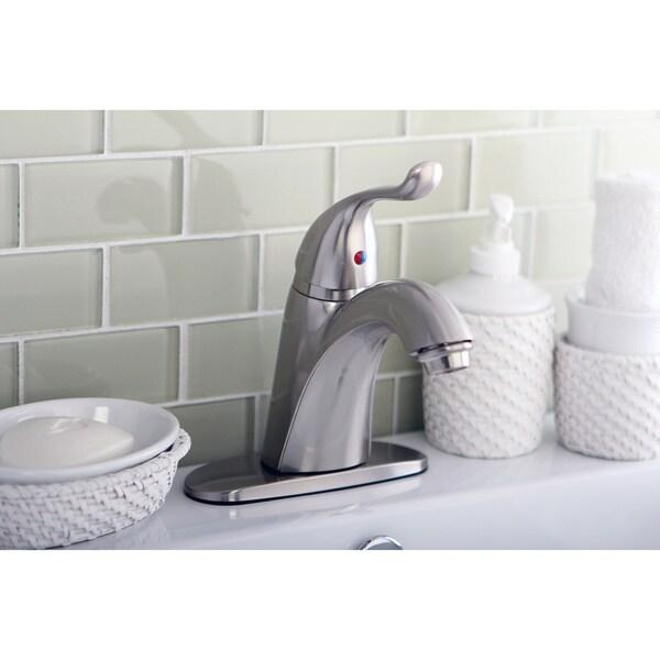 Satin-Nickel Single-Lever-Handle Bathroom Faucet