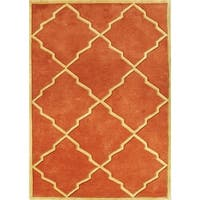 Alliyah Handmade Rust New Zealand Blend Wool Rug - 8' x 10'