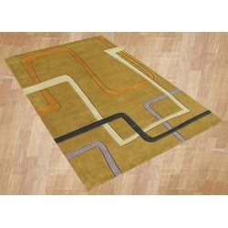 Alliyah Handmade Honey New Zealand Blend Wool Rug  (8' x 10')
