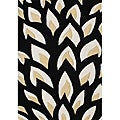 Alliyah HandMade Tufted Flame Inspiration Black Wool Rug (8' x 10')