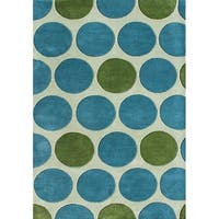Alliyah Handmade New Zeeland Blend Green Wool Rug (5' x 8') - 5' x 8'