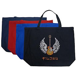 Los Angeles Pop Art 'Freebird' Cotton Shopping Tote