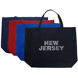 Los Angeles Pop Art 'New Jersey' Cotton Shopping Tote