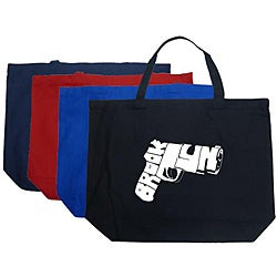 Los Angeles Pop Art 'Brooklyn Gun' Cotton Shopping Tote