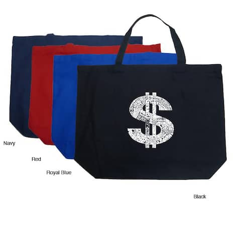 Los Angeles Pop Art Dollar Sign Shopping Tote