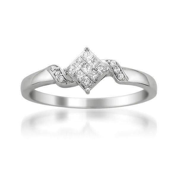 Montebello 14k White Gold 1/4ct TDW Diamond Ring