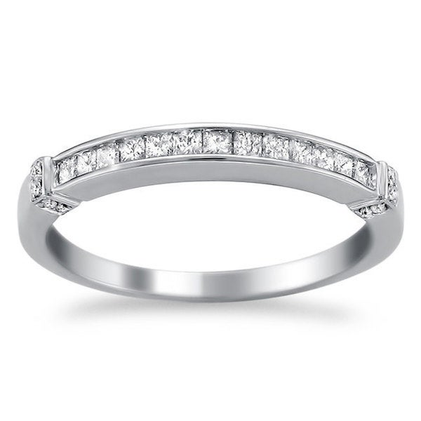 Montebello 14KT White Gold 1/3ct TDW Diamond Wedding Band