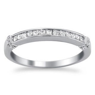 Montebello 14k White Gold 1/3ct TDW Diamond Wedding Band (H-I, I2-I3)