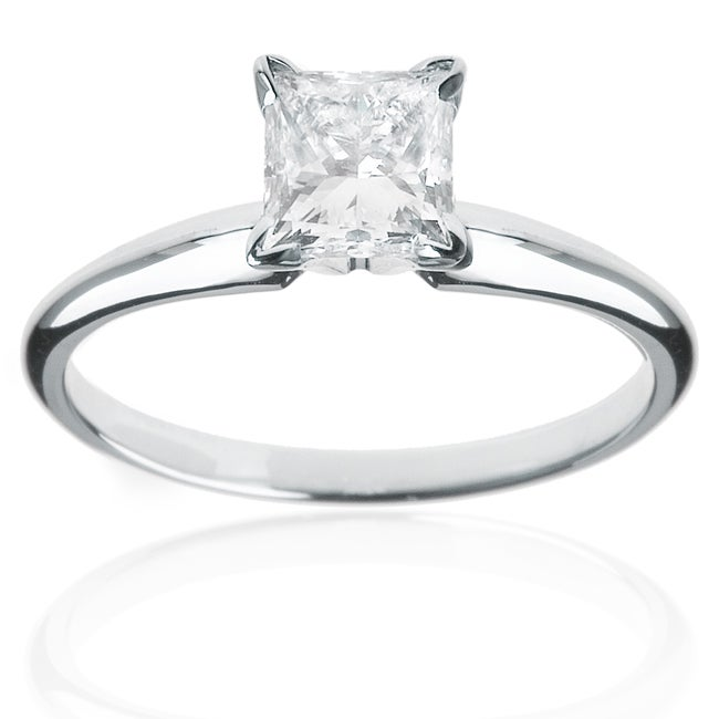 Montebello 14k White Gold 1 1/2ct TDW Diamond Solitaire Engagement Ring (H-I, I1-I2)