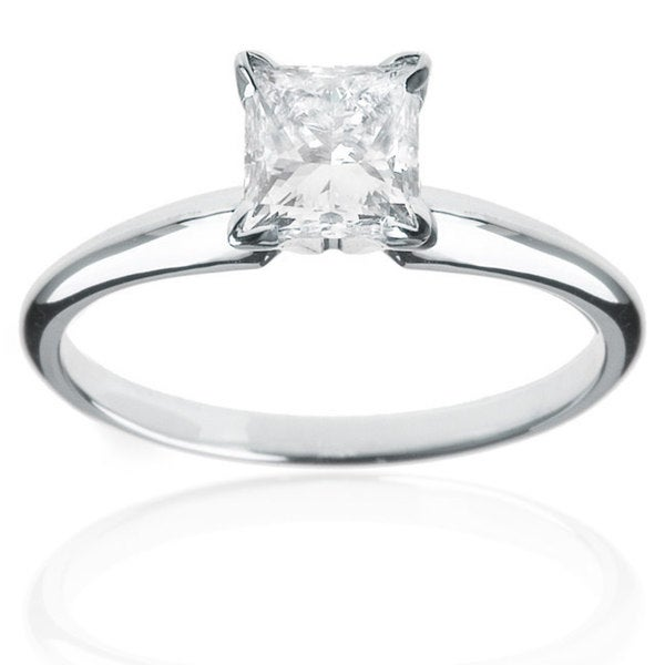 Montebello 14k White Gold 1 1/2ct TDW Diamond Solitaire Engagement Ring