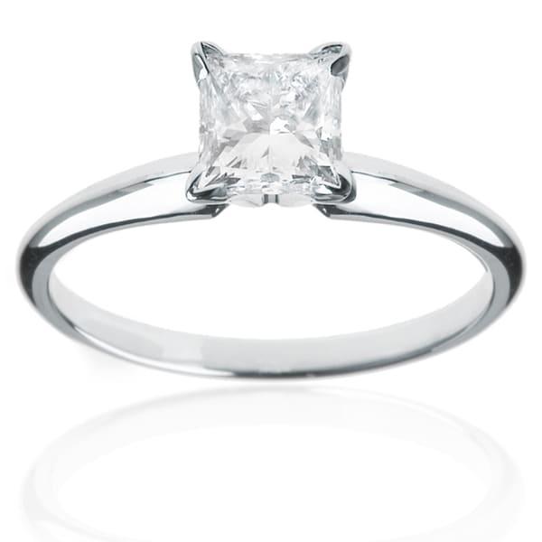 Montebello 14k White Gold 2ct TDW Diamond Solitaire Engagement Ring (H-I, I1-I2)