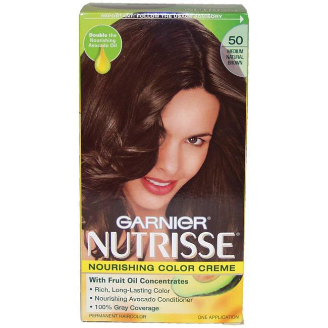 Garnier Nutrisse Nourishing Color Creme 50 Medium Natural Brown Hair Color Free Shipping On