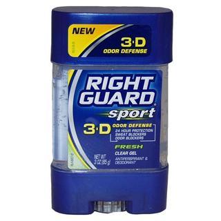 Right Guard Sport 3-D Odor Defense Clear Gel Fresh 3-ounce Antiperspirant Deodorant