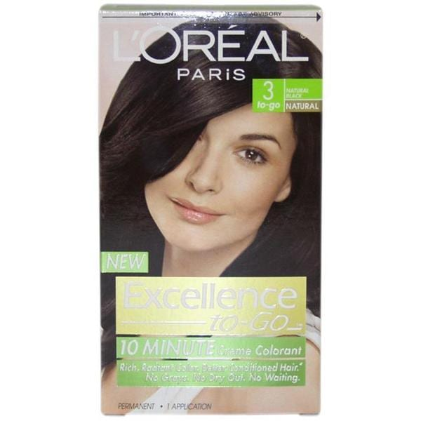 L'Oreal Excellence to Go 'Natural Black #3' Hair Color