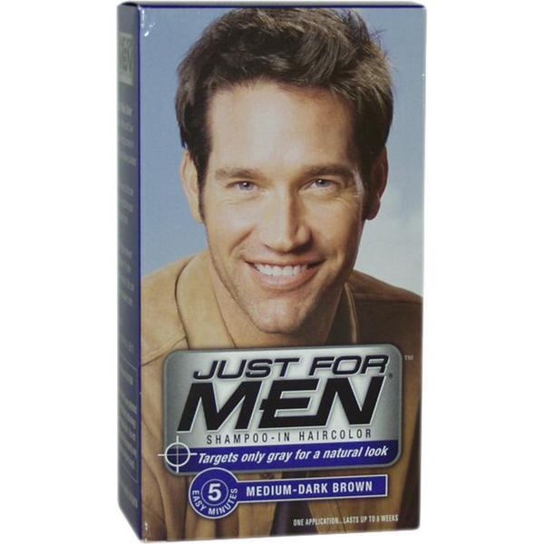 Just For Men Shampoo-In Hair Color Medium-Dark Brown #40 Shampoo ...