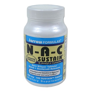 Jarrow Formulas Nac Sustain 100-count Tablets