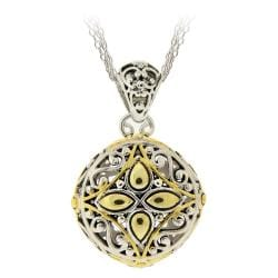 Mondevio Two-tone Round Filigree Necklace