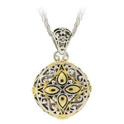 Mondevio Two-tone Round Filigree Necklace