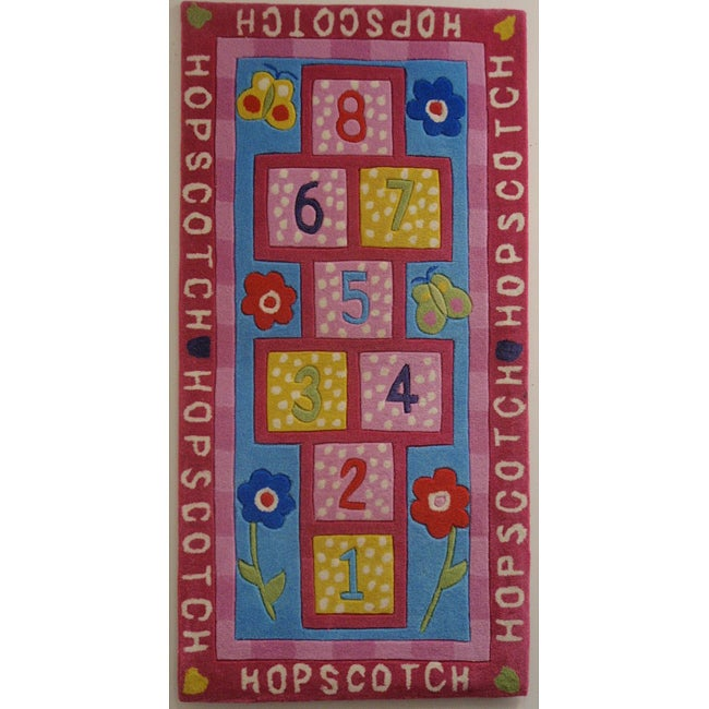 Kids Hopscotch Rug Home Decor