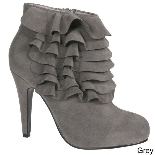 Story Faux Suede Ankle Booties