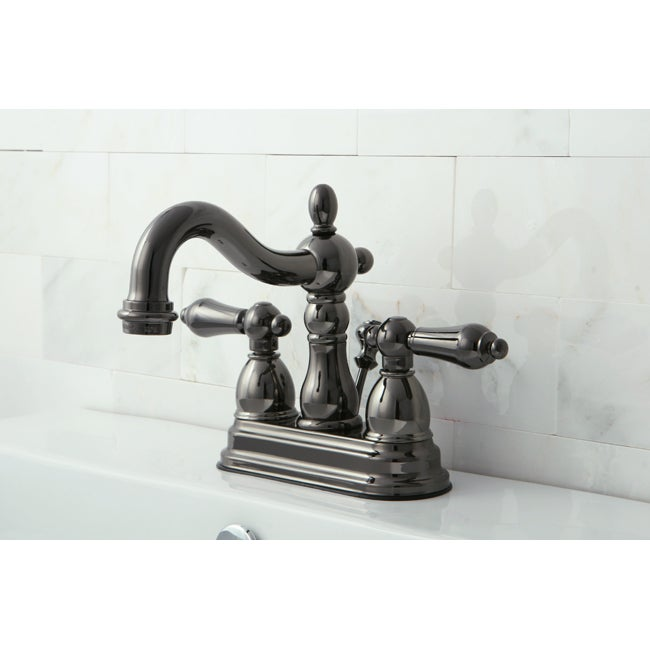 Double Handle Centerset Black Nickel Bathroom Faucet Free Shipping Today Overstock 13862487
