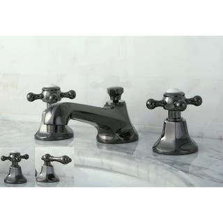 Double-handle Widespread Black Stainless Steel Bathroom Faucet|https://ak1.ostkcdn.com/images/products/6217351/P13862488.jpg?impolicy=medium