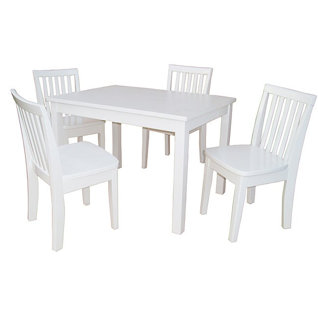 Juvenile Linen White Table with Four Chairs Set Free  : Juvenile Linen White Table with Four Chairs Set L13862521 from www.overstock.com size 650 x 650 jpeg 20kB
