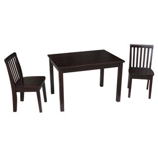 Juvenile Java Mission Table with Two Chairs Set - Rich Mocha