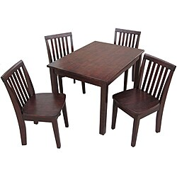 Juvenile Java Mission Table with Four Chairs Set
