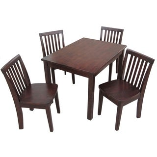 Juvenile Java Mission Table with Four Chairs Set - Rich Mocha