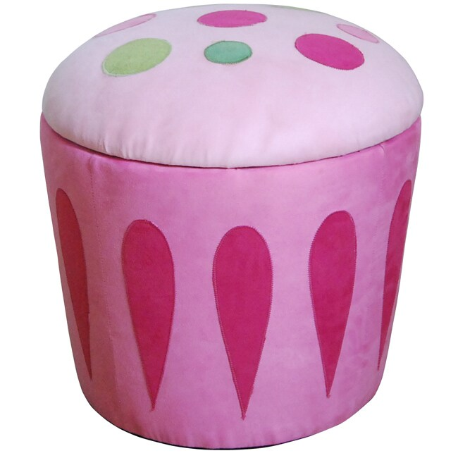 Shop Cupcake Storage Ottoman Pink Free Shipping Today Overstock