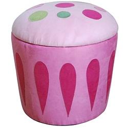 Thumbnail 1, Cupcake Storage Ottoman Pink.