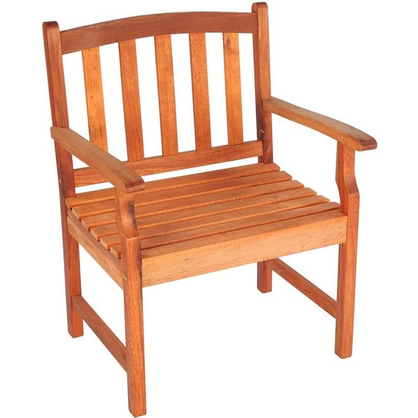 Bay Shore Patio Eucalyptus Outdoor Arm Chair