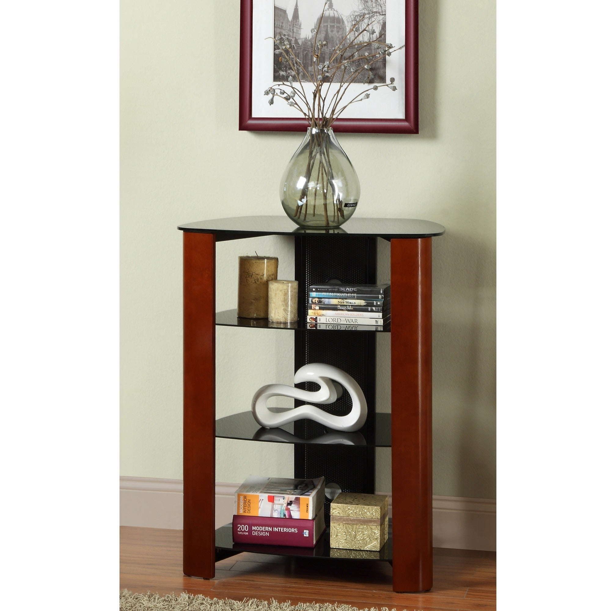 Walker Edison Wood Accent 35-inch Component Tower (35 in....