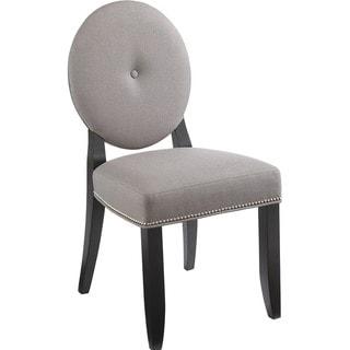 Sunpan Bernice Solid Wood Linen Dining Chair (Set of 2)