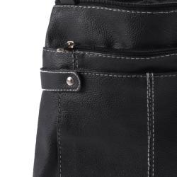 Journee Collection Genuine Leather Multi Pocket Shoulder Bag