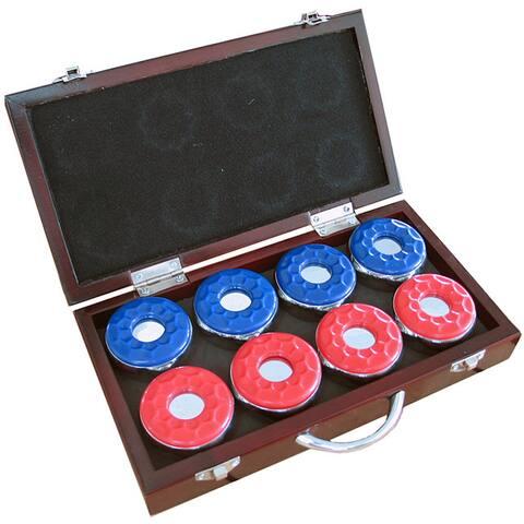 Hathaway Shuffleboard Pucks with Case - Set of 8