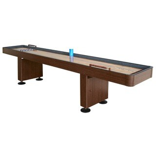 Hathaway Challenger Walnut Finish 12-ft Shuffleboard