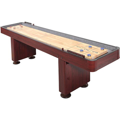Challenger 12-Foot Shuffleboard Table with Dark Cherry Finish - 12-ft