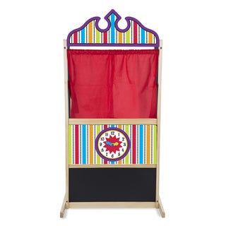 Melissa & Doug Wooden Deluxe Puppet Theater Play Set