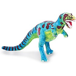 Melissa & Doug Blue/Multicolor Plush T-Rex Toy