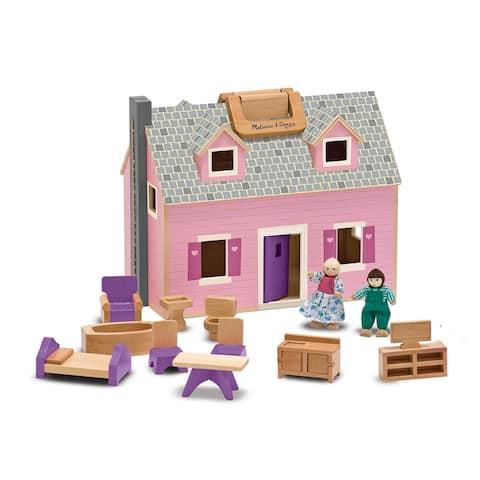 Melissa & Doug Fold and Go Dollhouse Play Set