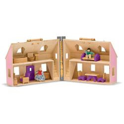 Melissa Doug Fold And Go Dollhouse Play Set Free Shipping Today 13862788