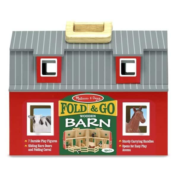 Shop Melissa Doug Fold And Go Barn Play Set Free